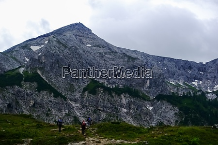 hikers on the path to a