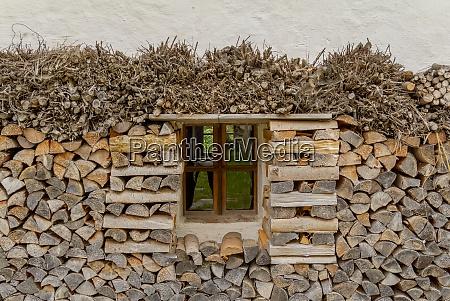 window and firewood