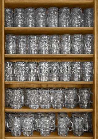 lots of beer glasses