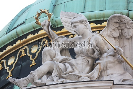 architectural artistic decorations on hofburg palace