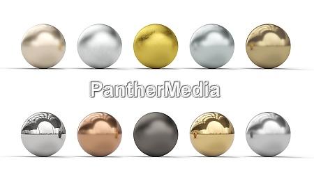 metal balls collection