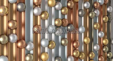 metallic spheres of different materials minimalist