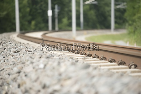 railroad line for rail bound and
