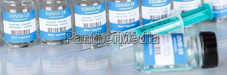 coronavirus vaccine bottle corona virus syringe