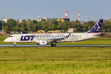 lot polskie linie lotnicze embraer 195