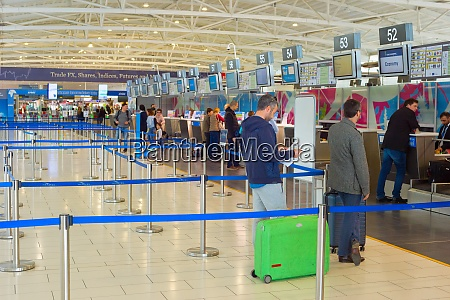 chekin people airport terminal cyprus