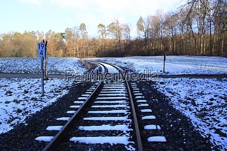 unrestricted railroad crossing near weissach in