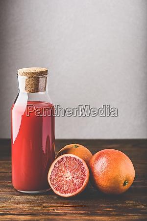 bottle of blood orange juice