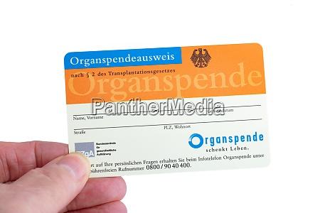 german organ donor card organspendeausweis