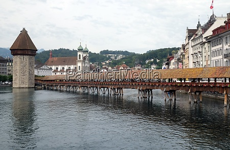historic city center of lucerne with