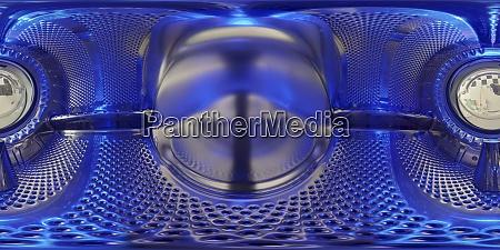 360 grad foto einer waschmaschine von