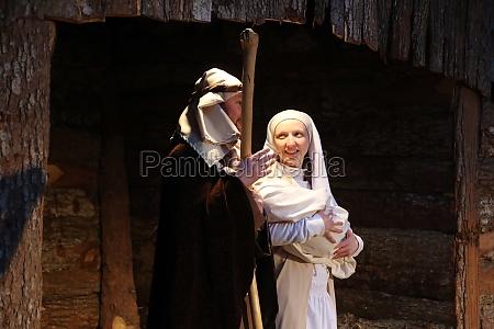 live nativity scene in zagreb croatia