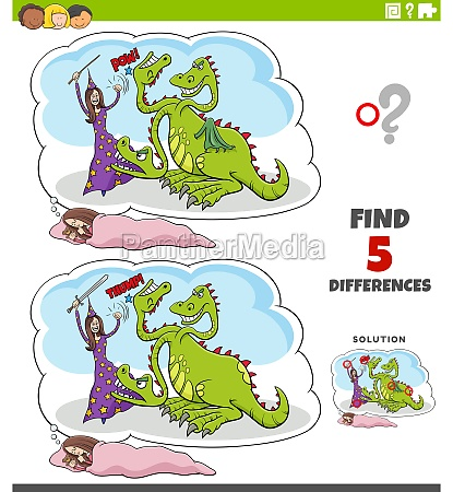 differences educational game with fantasy dream
