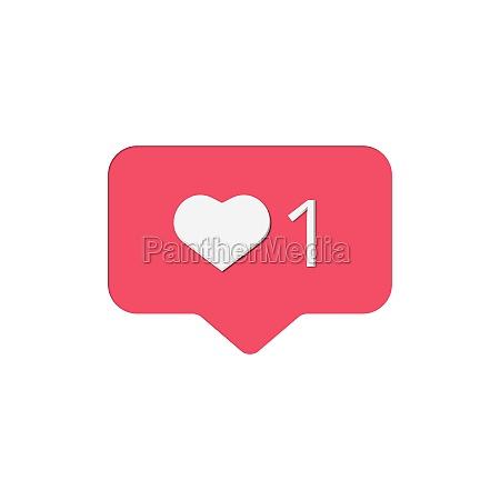 social networks like on white background