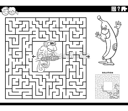 maze game with monkey and banana