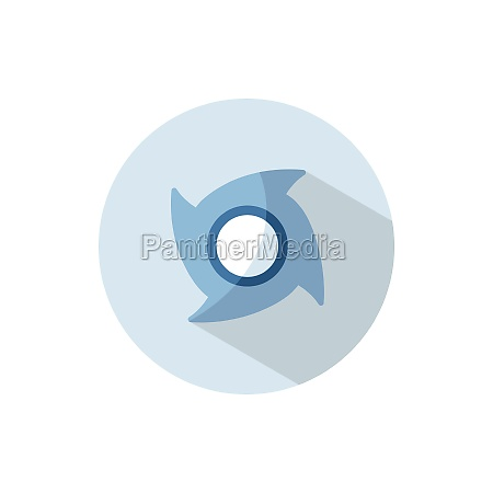 hurricane category two flat icon on