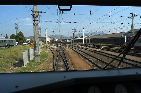 switch or track switch in railroad