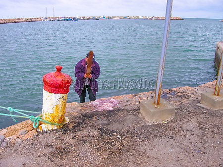 the local people at port of