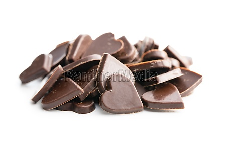 sweet chocolate hearts