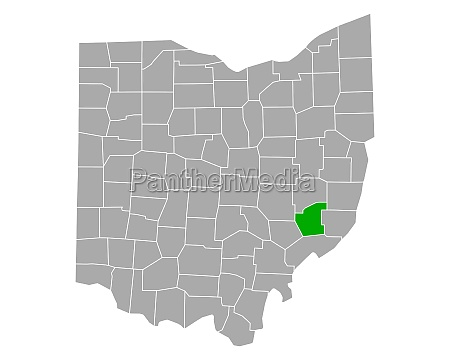 map of noble in ohio