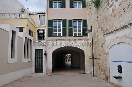 old town of mahon on menorca