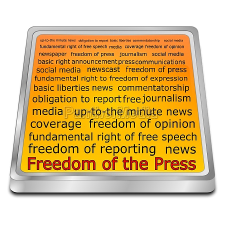 freedom of the press wordcloud button