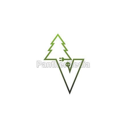 letter tree logo concept letter
