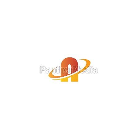 alphabet combine circle icon logo
