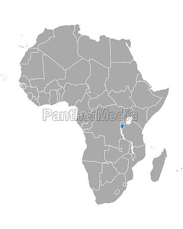 map of burundi in africa