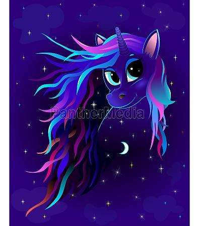 unicorn night starry sky