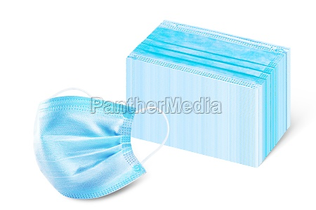 many medical disposable masks for protection