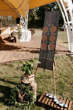 elegant wedding decorations made of natural