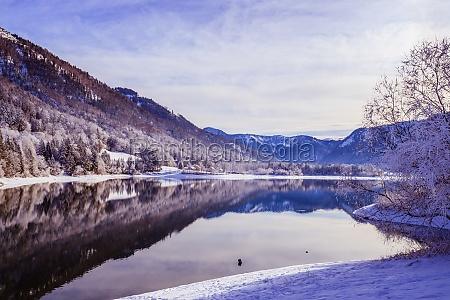sunny winter landscape in the alps