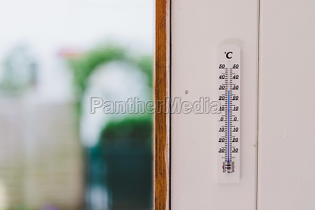 heatwave thermometer in summer on a