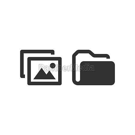 picture file and folder vector icon