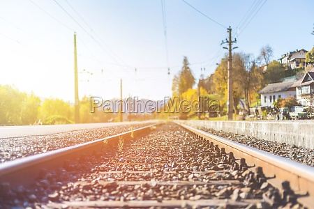 sustainable traveling by train rail track