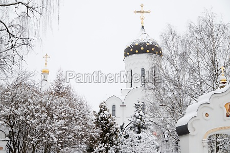 saint elisabeth convent minsk in winter
