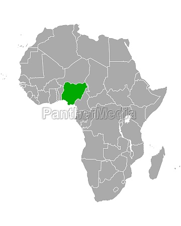 map of nigeria in africa
