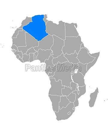 map of algeria in africa