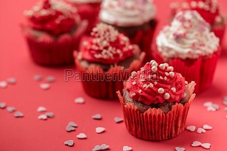 valentine day love cupcake