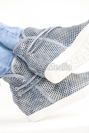 spring blue womens ankle boots
