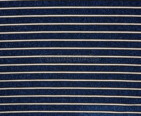 blue fabric with white stripes and