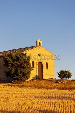 chapel with lavender field plateau de