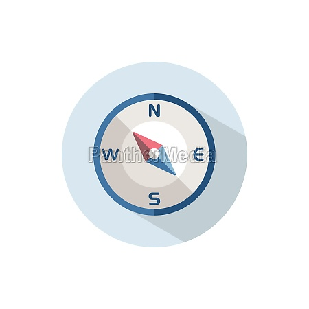 compass north west direction flat icon