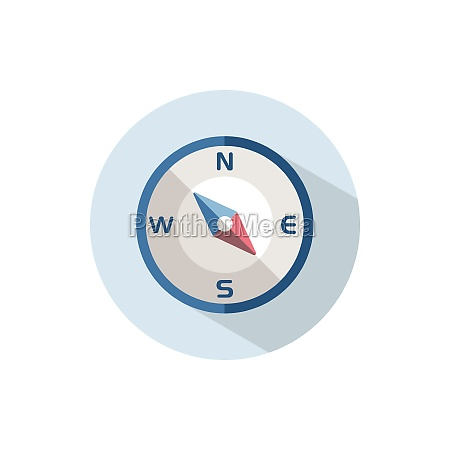 compass south east direction flat icon