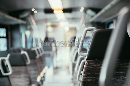 interior of a public transport train