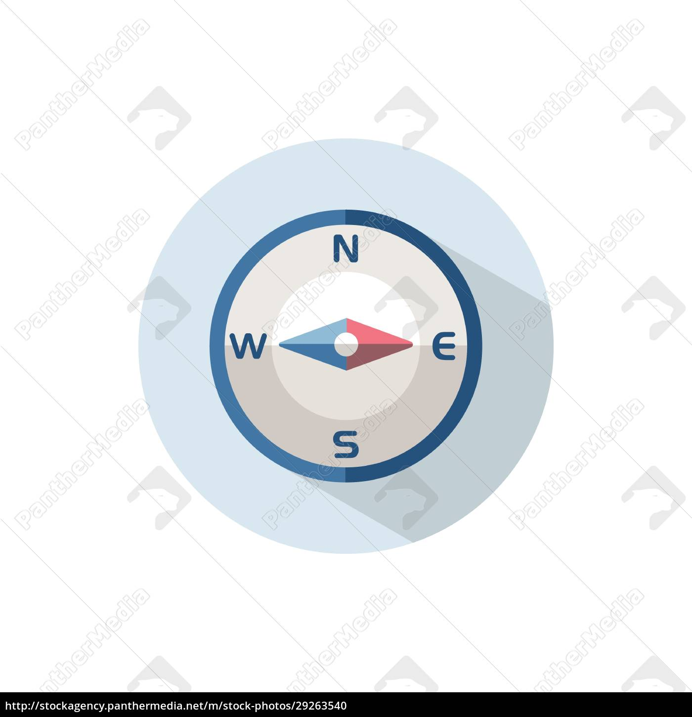 compass, east, direction., flat, icon, on - 29263540