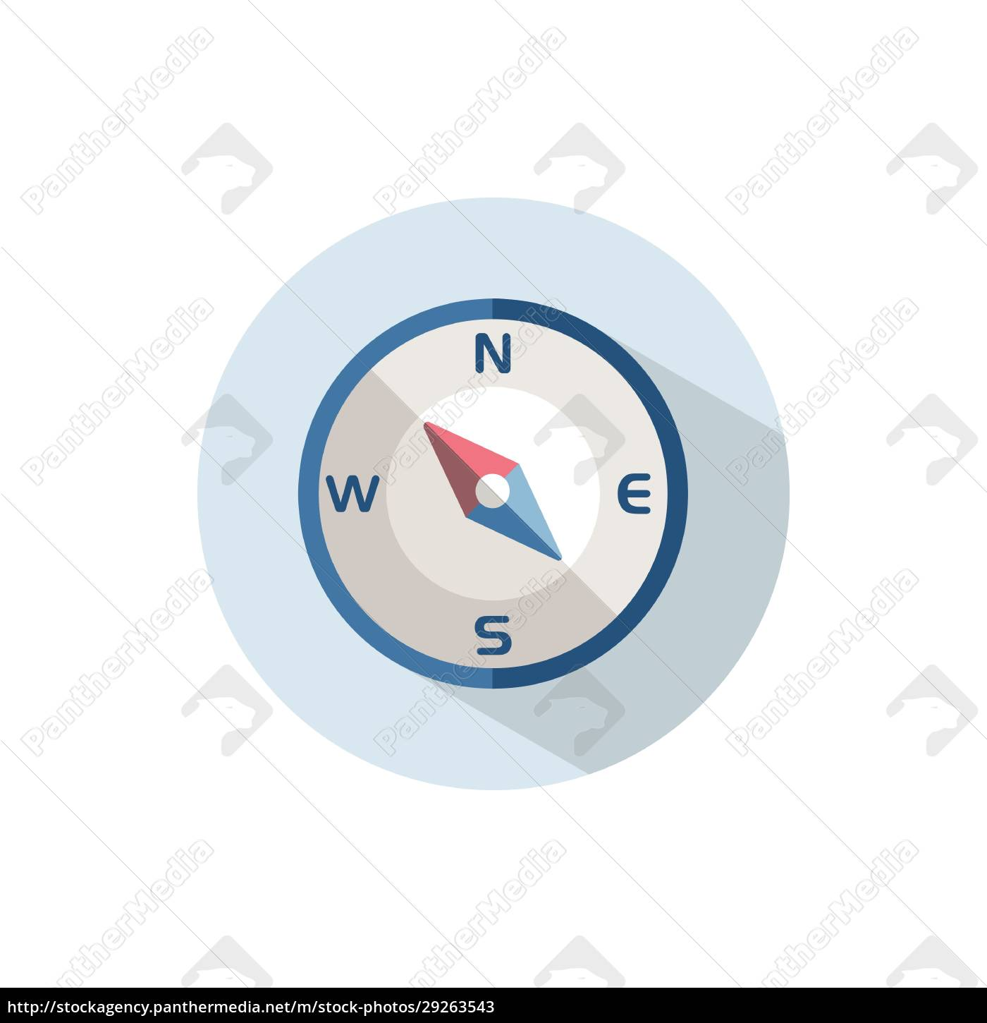 compass, north, west, direction., flat, icon - 29263543