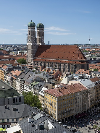 cathedral liebfrauenkirche viewed vom tower of