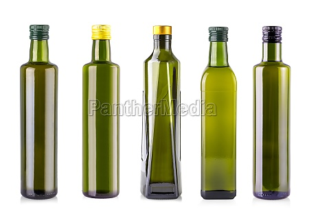 bottle of olive oil isolated on